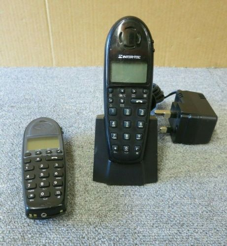 2 x Polycom Kirk 4020 DECT Cordless Handset and 1 x Desk Stand Charger 8464 2419